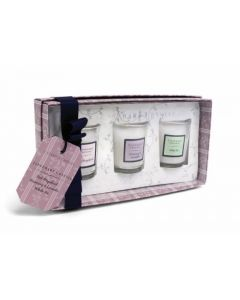 Tipperary Crystal 3 Scented Mini Candles Set