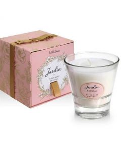 Tipperary Crystal Jardin Candle Wild Roses