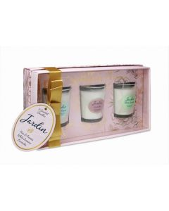 Tipperary Crystal Jardin Collection 3 Assorted Mini Candles
