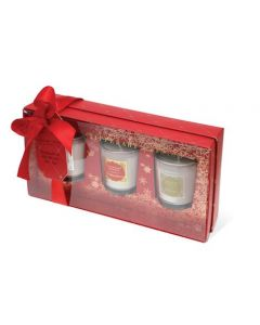 Tipperary Crystal Red 3 Piece Scented Candle Set