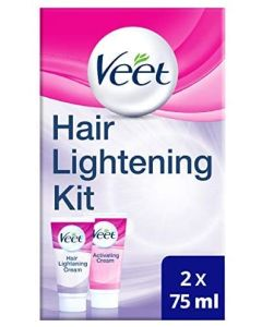 Veet Hair Lightening Cream for Face and Body, 2 x 75 ml