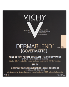 Vichy Dermablend Covermatte Powder Foundation-15 Opal