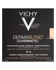 Vichy Dermablend Covermatte Powder Foundation-25 Nude