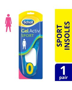 Scholl Women's Gel Activ Sport Insoles, One Size