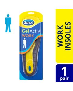 Scholl Men's Gel Activ Work Insoles, One Size