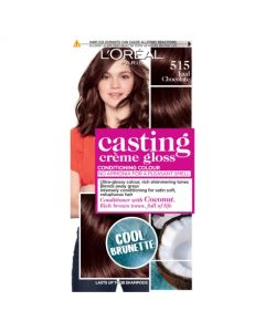 L'Oreal Casting Creme Gloss 515 Iced Chocolate Cool Brunette Brown Semi Permanent Hair Dye