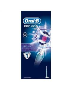 Oral-B PRO 600 3D White Electric Toothbrush Rechargeable