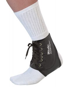 Mueller Adjust-to-Fit Black Ankle Brace One Size