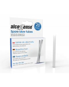 AlcoSense Blow Tubes Pack of 20