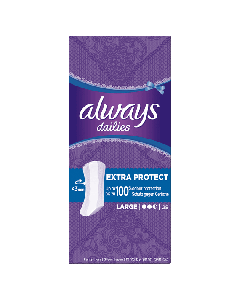 Always Dailies Extra Protect Large Panty Liners 28 Pack