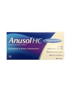 Anusol HC Suppositories 12