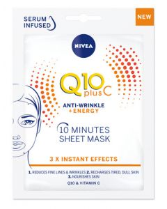 Nivea Q10+ Vit C Energy Sheet Mask Front