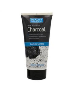 Beauty Formulas Facial Scrub With Activated Charcoal 150ml