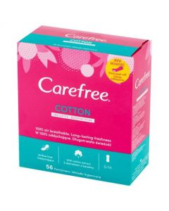 Carefree Cotton Unscented Pantyliner's 56's