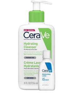 CeraVe Hydrating Cleanser-236ml & Moisturising Lotion 20ml