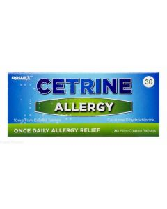 Cetrine Allergy 10mg - 30 Film-Coated Tablets