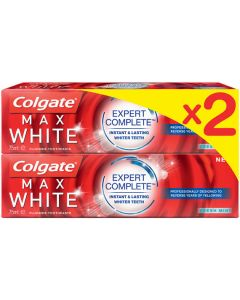 Colgate Max White Expert Complete Toothpaste 75ml Twin Pack