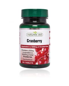 Natures Aid Cranberry 200mg-30