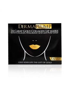 DermaPlump 24 Carat Gold Luxury Collagen Lip Masks (5 x Masks)