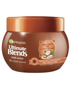 Garnier Ultimate Blends Coconut Oil Frizzy Hair Treatment Mask 300ml Front