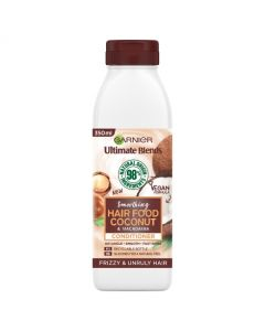 Garnier Ultimate Blends Smoothing Hair Food Coconut Conditioner For Frizzy Hair 350ml front