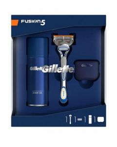 Gillette Fusion 5 Razor Gel Prep And Cover Gift Set