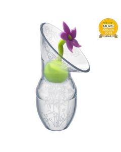Haakaa Silicone Breast Pump Flower Stopper Lilac