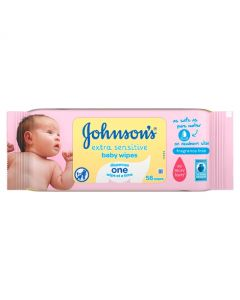Johnsons Baby Extra Sensitive Wipes 56