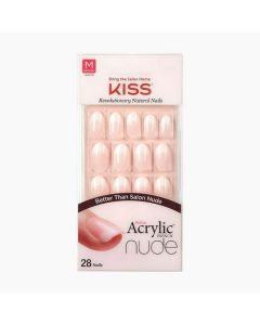 Kiss Salon Acrylic French Nude Graceful Medium Nails Oval