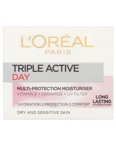 L'Oreal Paris Triple Active Day Cream Dry & Sensitive - 50ml