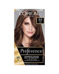 L'Oreal Preference 5.0 Bruges Light Brown Permanent Hair Dye Front of box