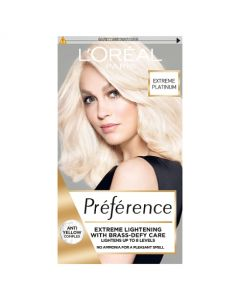 L'Oreal Preference 8L Extreme Platinum Blonde Permanent Hair Dye Front