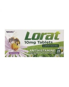 Lorat 10mg Loratadine 28 Tablets