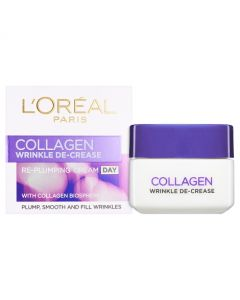Wrinkle De-Crease collagen replumper - especially designed to visibly reduce the appearance of wrinkles to give skin a bouncy feel. Buy Loreal Collagen replumper online in Ireland today.