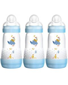 MAM Anti-Colic Baby Bottles 260ml 3pk Blue