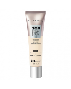 Maybelline Dream Urban Cover All-In-One Protective Makeup 100 Warm Ivory