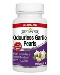 Natures Aid Garlic Pearls 120 Soft Gels