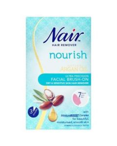 Nair Sensitive Formula Facial Brush-On Hair Removal Cream 50ml