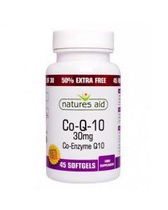 Natures Aid Co Q 10 30mg (30) +50% FREE