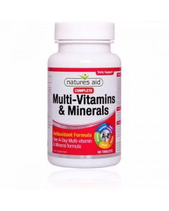 Natures Aid Complete Multi-Vitamins & Minerals 90 Tablets