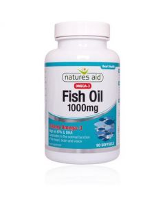 Natures Aid Fish Oil 1000mg (Omega-3)-90 Softgels