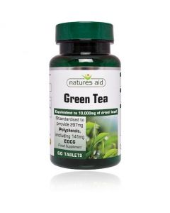 Natures Aid Green Tea 10,000mg (60) Tablets