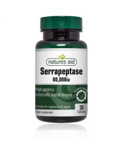 Natures Aid Serrapeptase 80000iu - Enterically Coated (30)