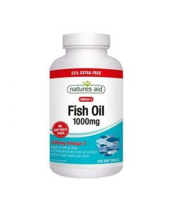 Natures Aid Fish Oil 1000mg Omega-3 240 Capsules