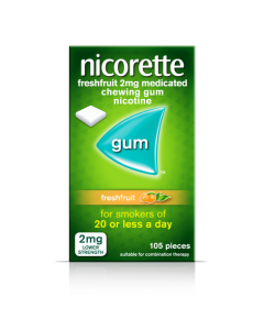 Nicorette Freshfruit Gum 2mg 105 Pieces