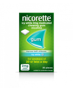 Nicorette Gum Icy White 2mg 30 Pieces