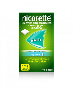 Nicorette Gum Icy White-4mg 105 Pieces
