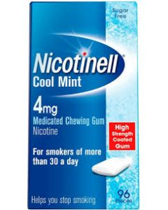 Nicotinell Cool Mint 4mg Medicated Chewing Gum – 96 Pieces