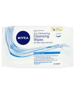 Nivea Daily Essentials Gentle Facial Wipes for Normal and Combination Skin - Twin Pack
