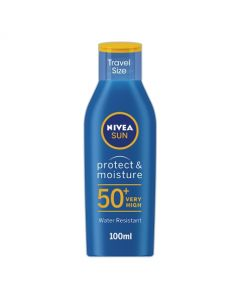 Nivea Protect & Moisture Travel Size Sun Lotion SPF50+ 100ml